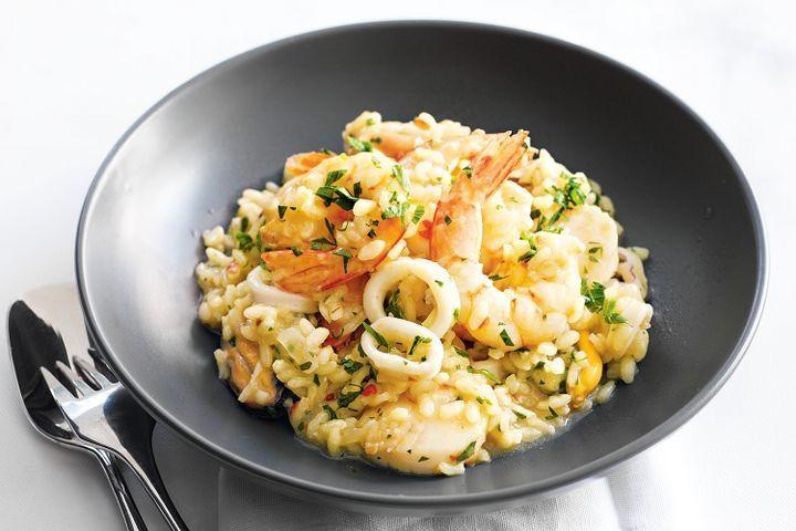 Seafood Risotto Recipe  Seafood risotto