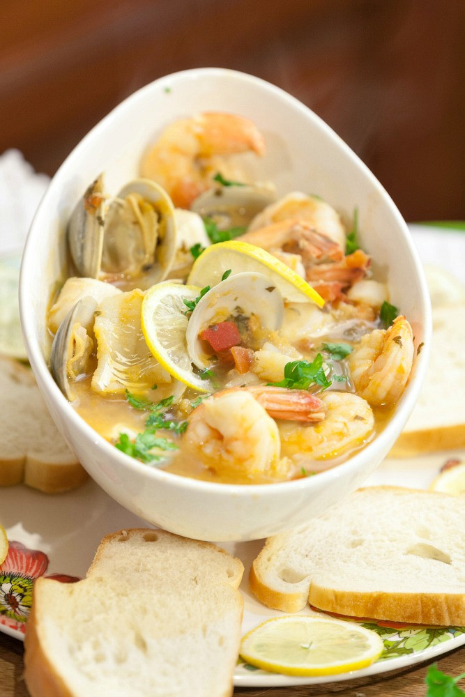 Seafood Stew Recipes  Tuscan Seafood Stew Food Done Light
