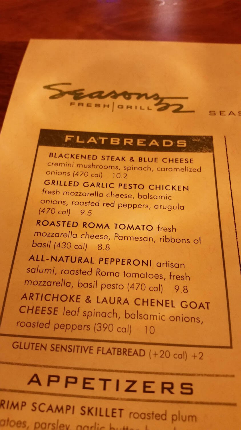 Seasons 52 Dinner Menu  Seasons 52 Menu Prices