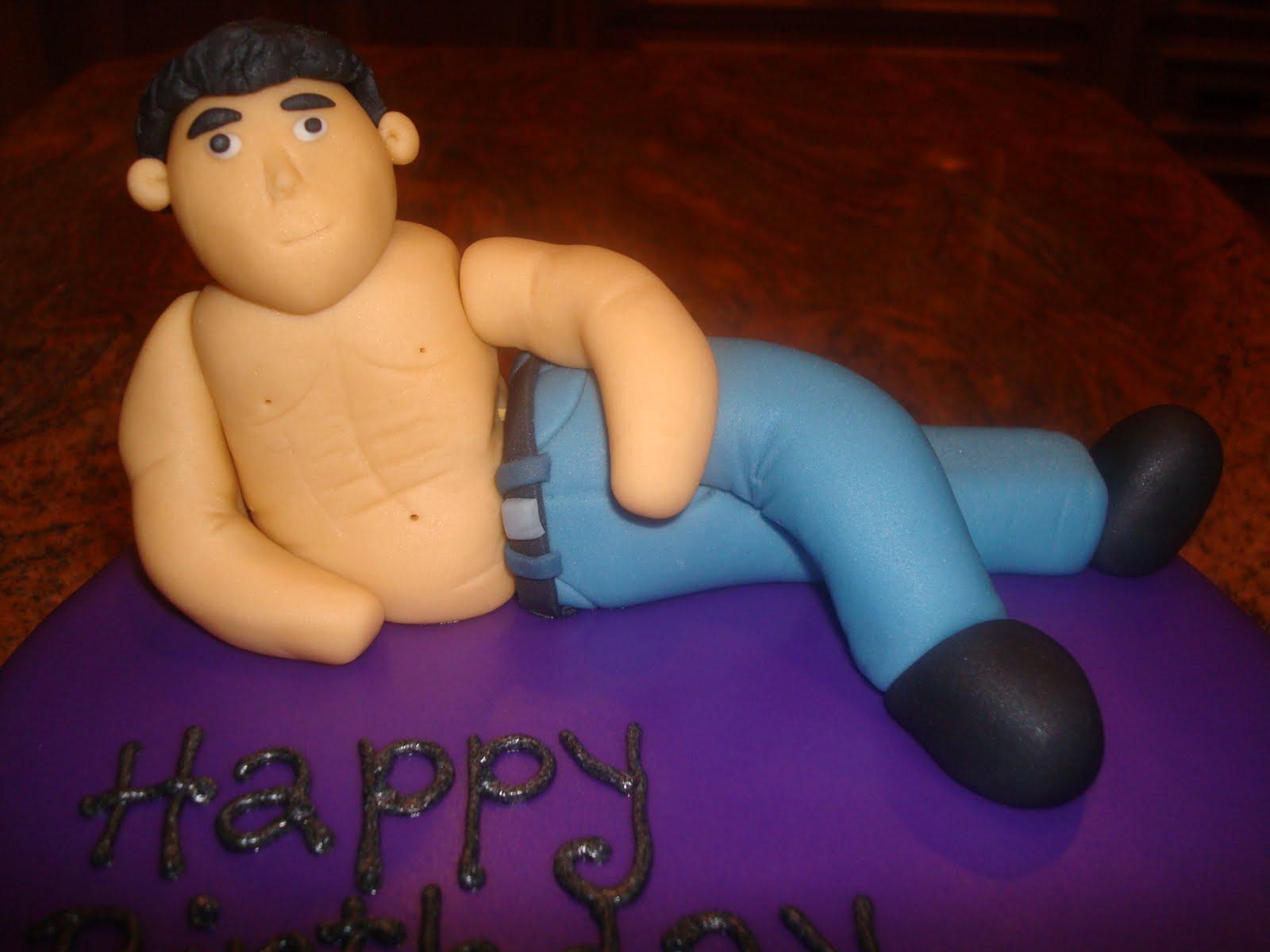 Sexy Birthday Cake  Sweet Melissa s Dorian and Maria s y Man Birthday Cake