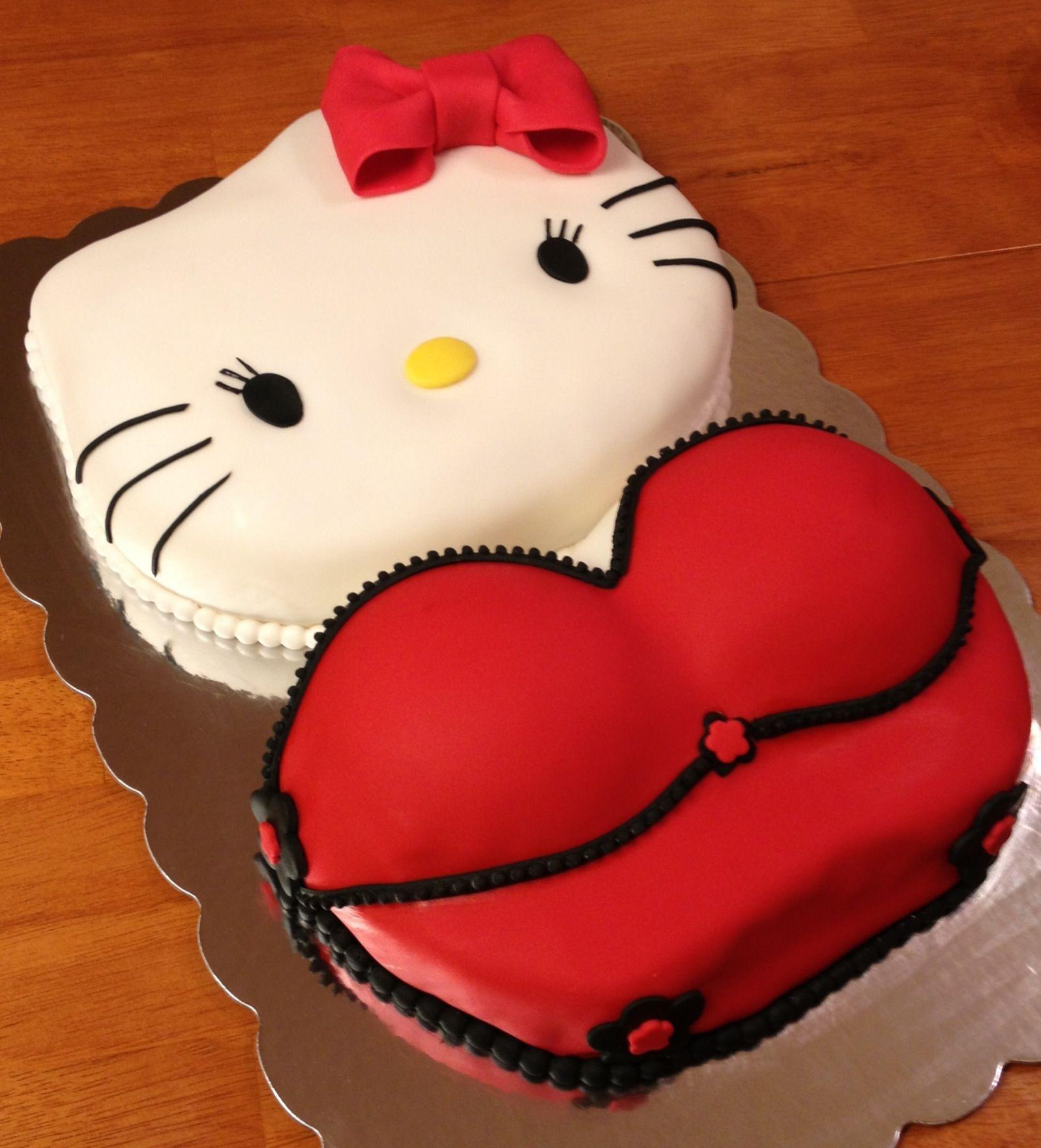 Sexy Birthday Cake  y Hello Kitty Birthday Cake Pretty Cakes