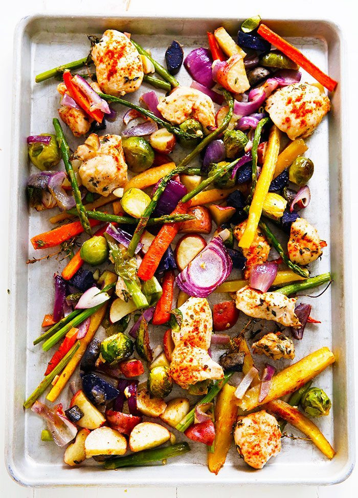 Sheet Pan Dinner  Sheet Pan Chicken and Veggie Dinner Lexi s Clean Kitchen