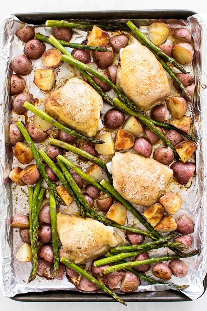 Sheet Pan Dinner  Simple Chicken and Ve able Sheet Pan Dinner Julie s