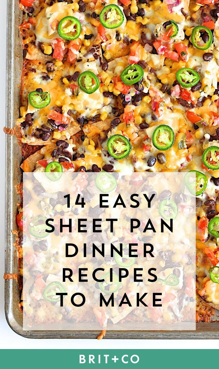 Sheet Pan Dinner Recipes  14 Easy Sheet Pan Suppers That Make Dinner and Cleanup a