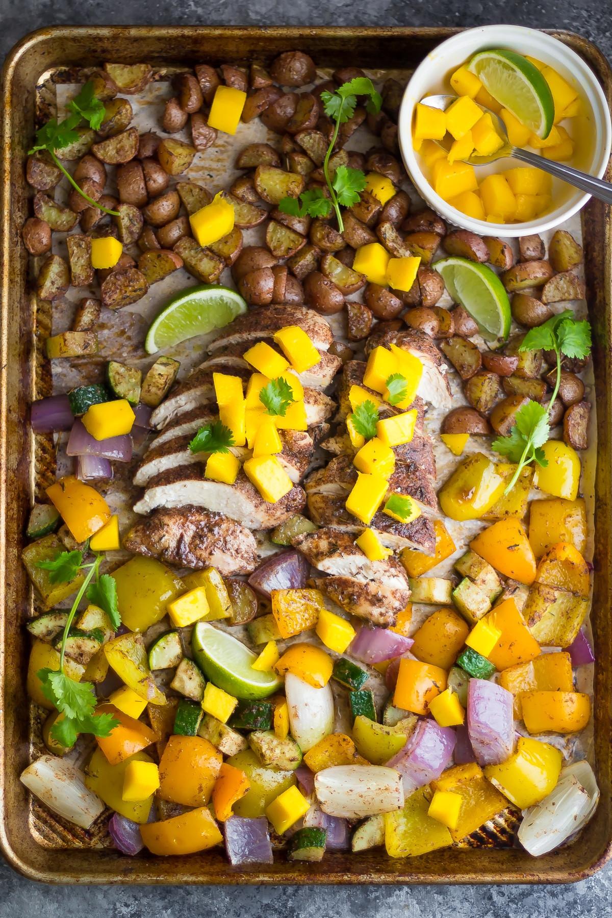 Sheet Pan Dinner Recipes  Jamaican Chicken Sheet Pan Dinner