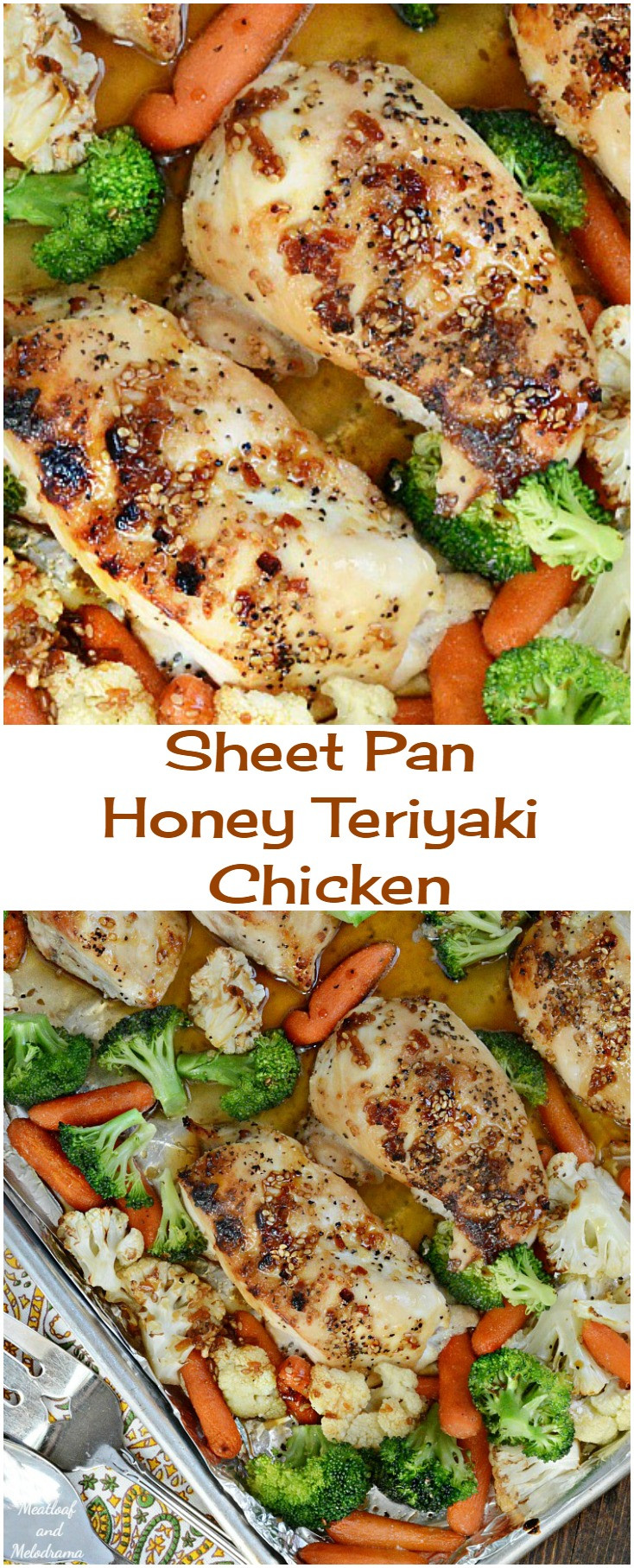 Sheet Pan Dinner Recipes  Sheet Pan Honey Teriyaki Chicken Meatloaf and Melodrama