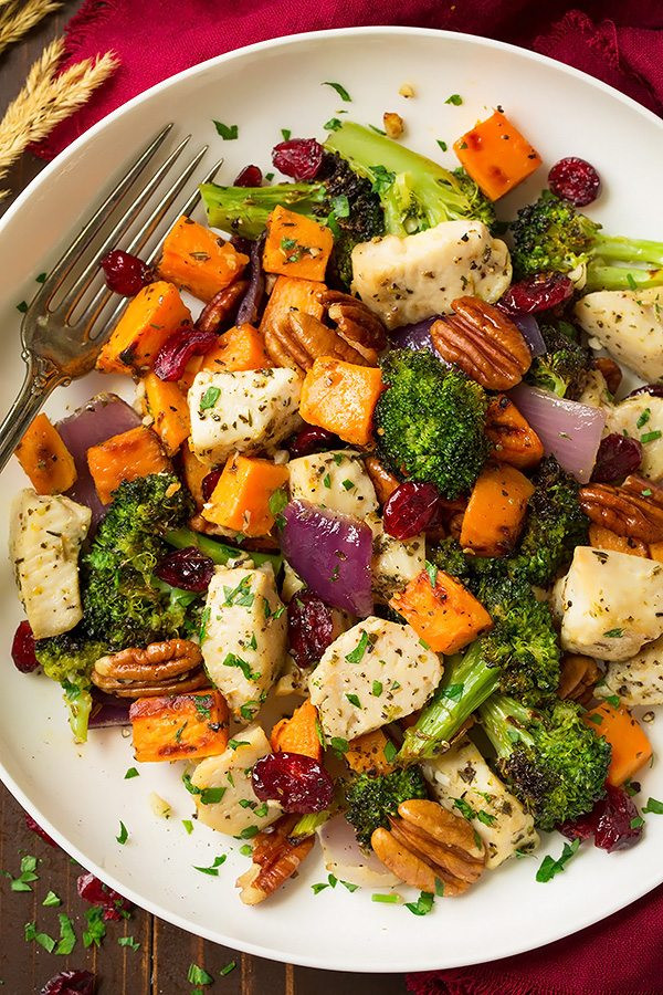 Sheet Pan Dinner Recipes  Chicken Broccoli and Sweet Potato Sheet Pan Dinner Recipes