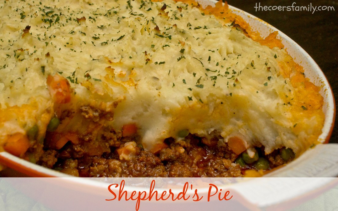 Shepherd'S Pie With Ground Beef  Shepherd s Pie The Coers Family