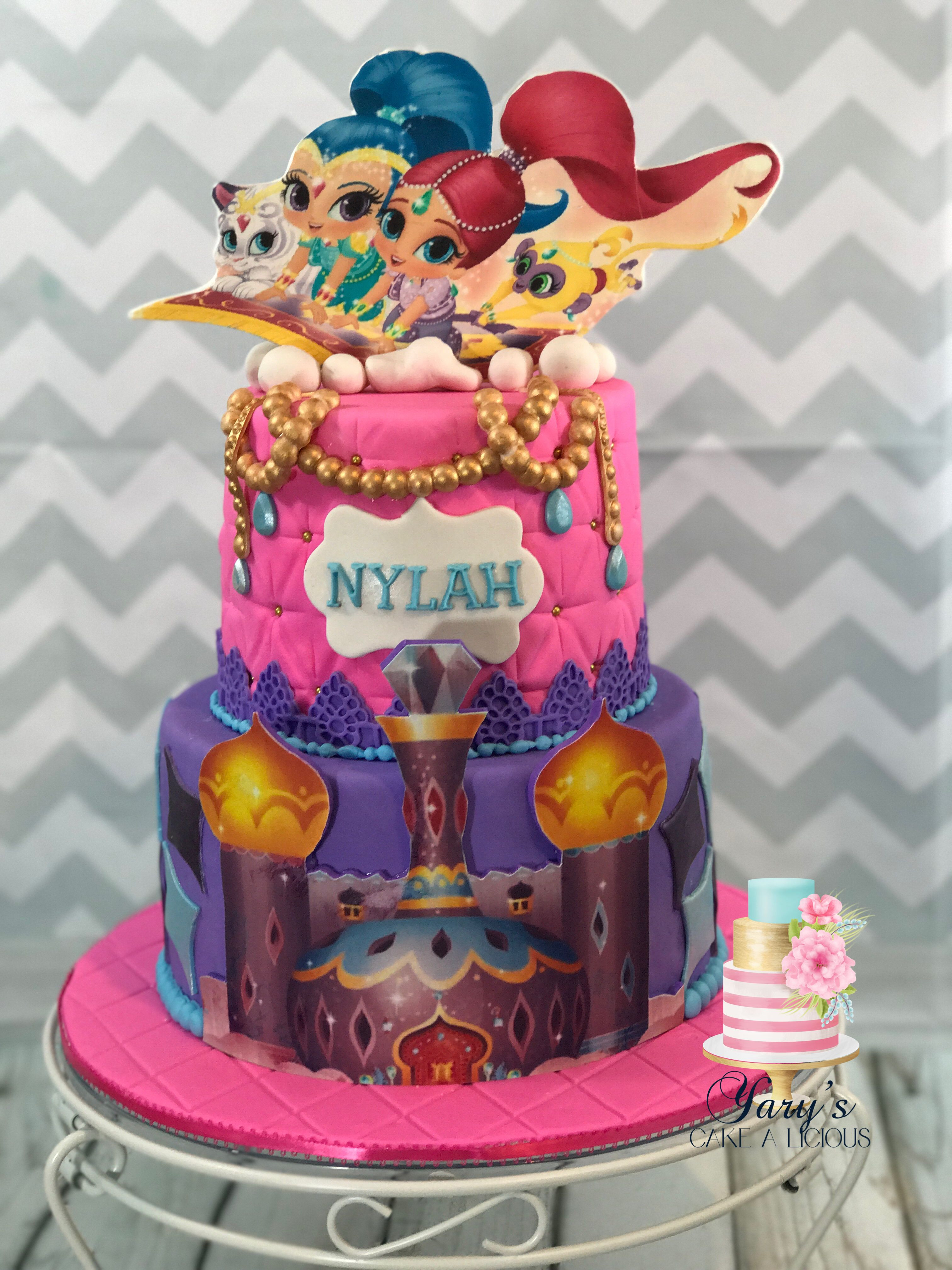 Shimmer And Shine Birthday Cake  Shimmer and shine birthday cake Jimenas 1st