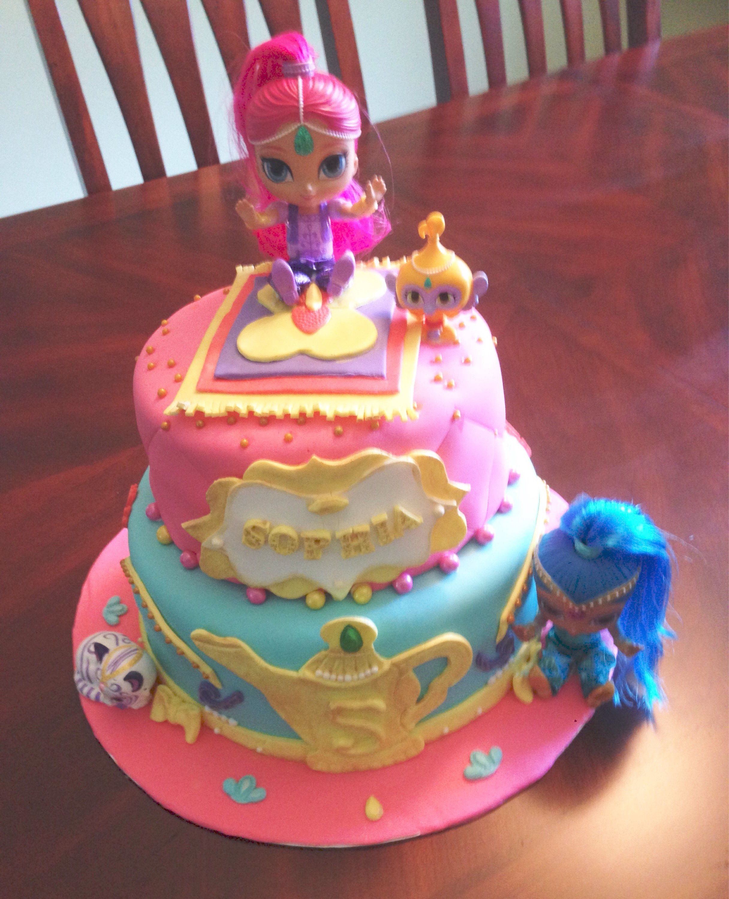 Shimmer And Shine Birthday Cake  Shimmer and Shine cake topper