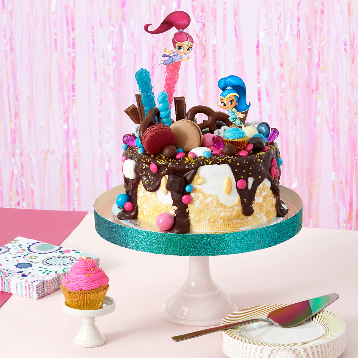 "Shimmer And Shine Birthday Cake  Shimmer and Shine ""Oopsie "" Birthday Cake"