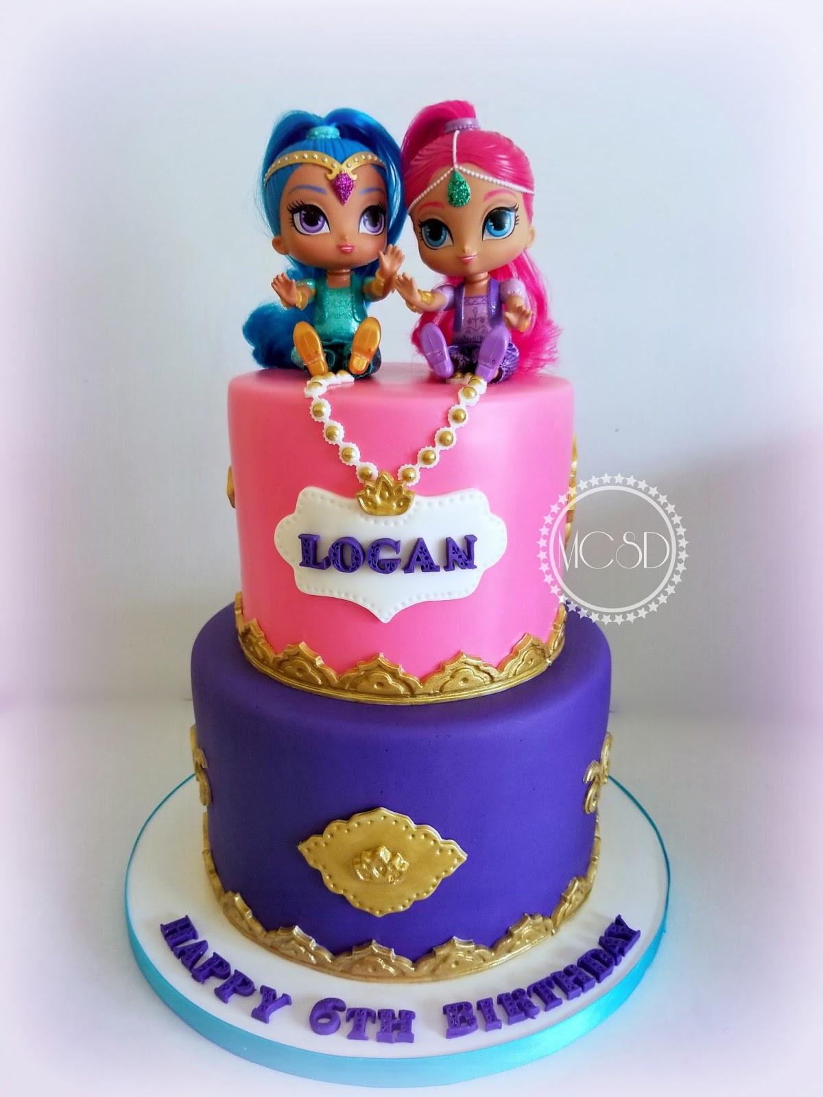 Shimmer And Shine Birthday Cake  MyCakeSweetDreams Shimmer and Shine Birthday Cake
