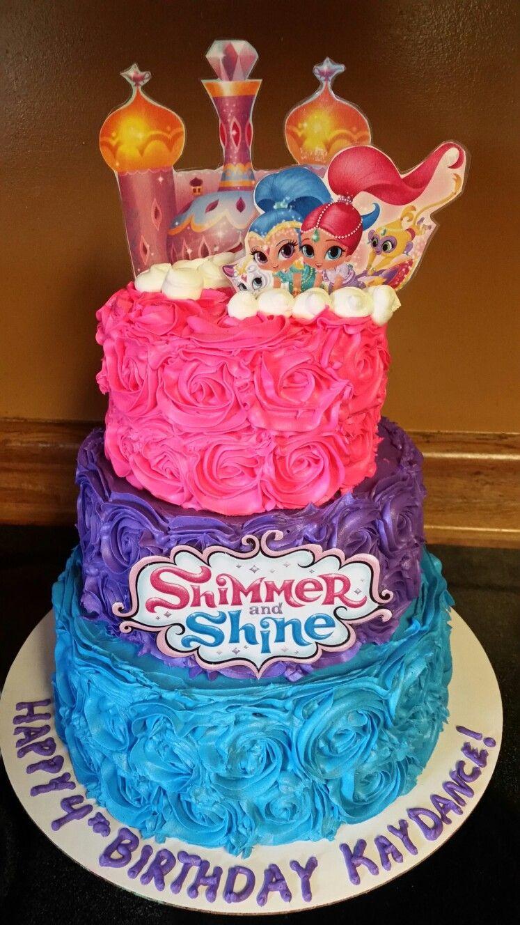 Shimmer And Shine Birthday Cake  Shimmer and Shine cake cakes I made Pinterest