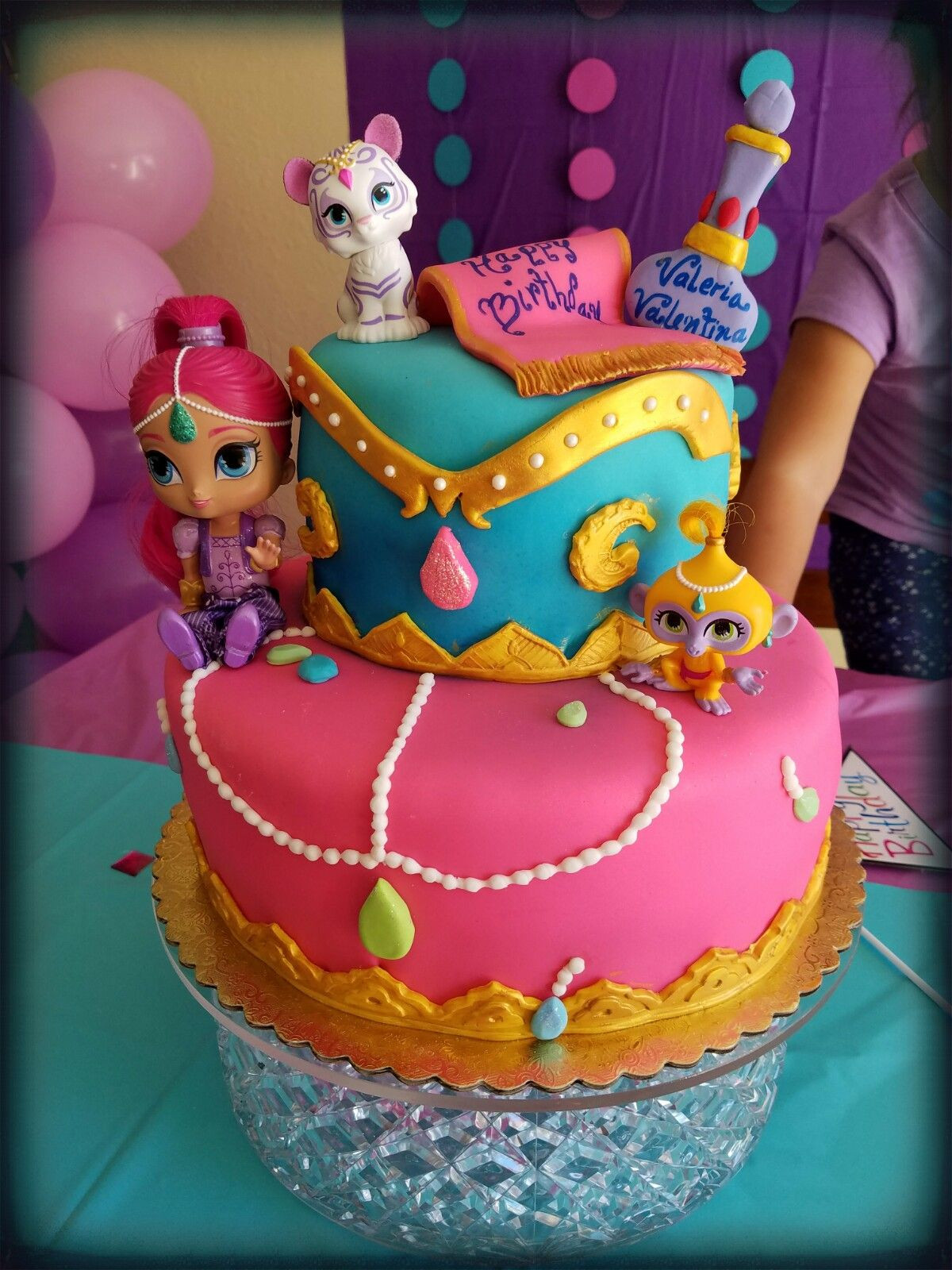 Shimmer And Shine Birthday Cake  Shimmer and shine cake Jayxor Cakes Pinterest