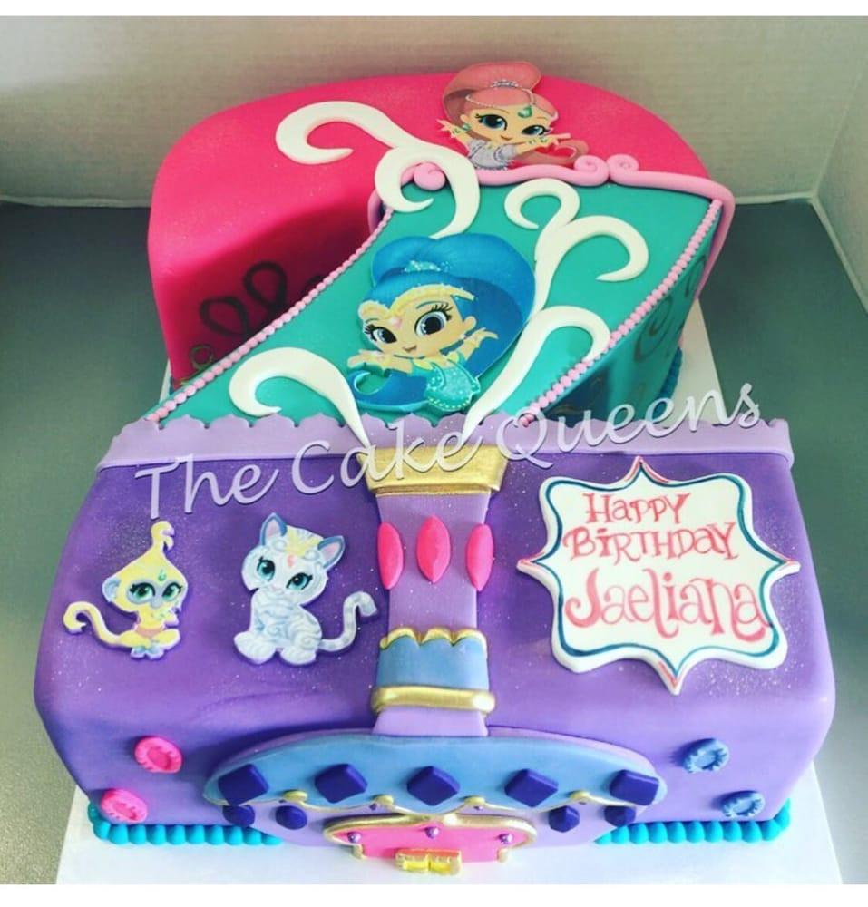 Shimmer And Shine Birthday Cake  Shimmer & Shine 2nd Birthday Cake Yelp