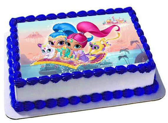 Shimmer And Shine Birthday Cake  Shimmer and Shine Edible Cake Topper Shimmer and Shine