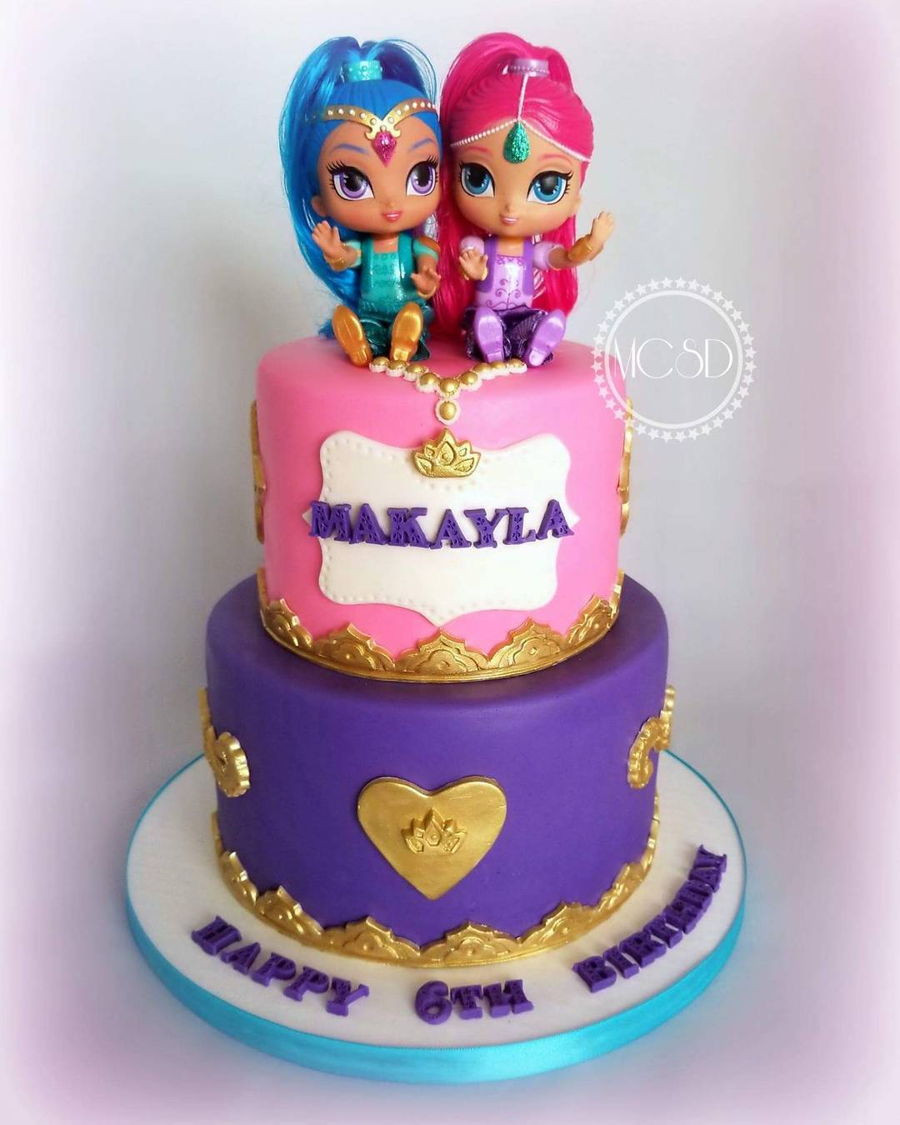 Shimmer And Shine Birthday Cake  Shimmer And Shine Birthday Cake CakeCentral
