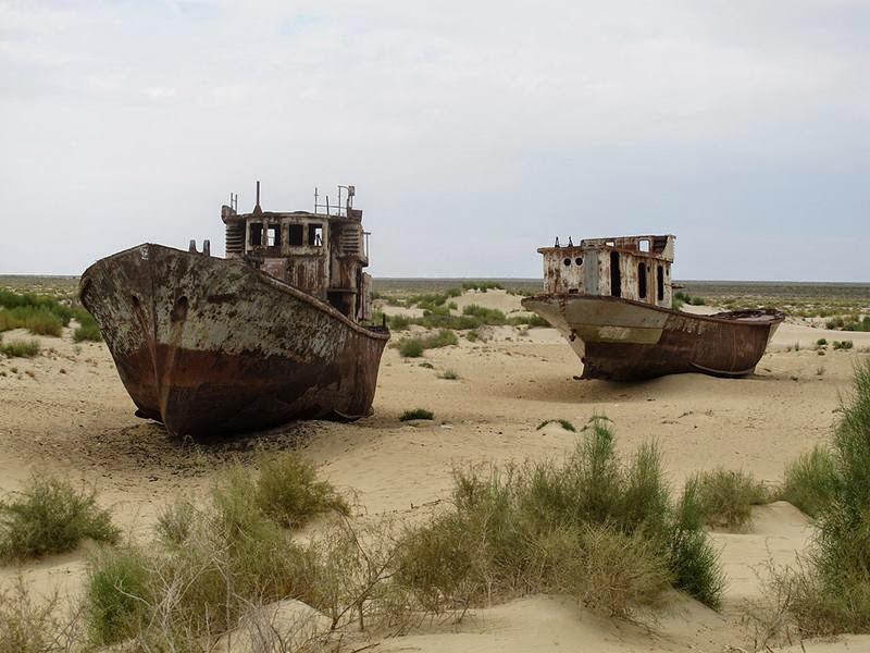 Ships Of The Dessert  Ships Graveyard in the Desert of Moynaq Uzbekistan