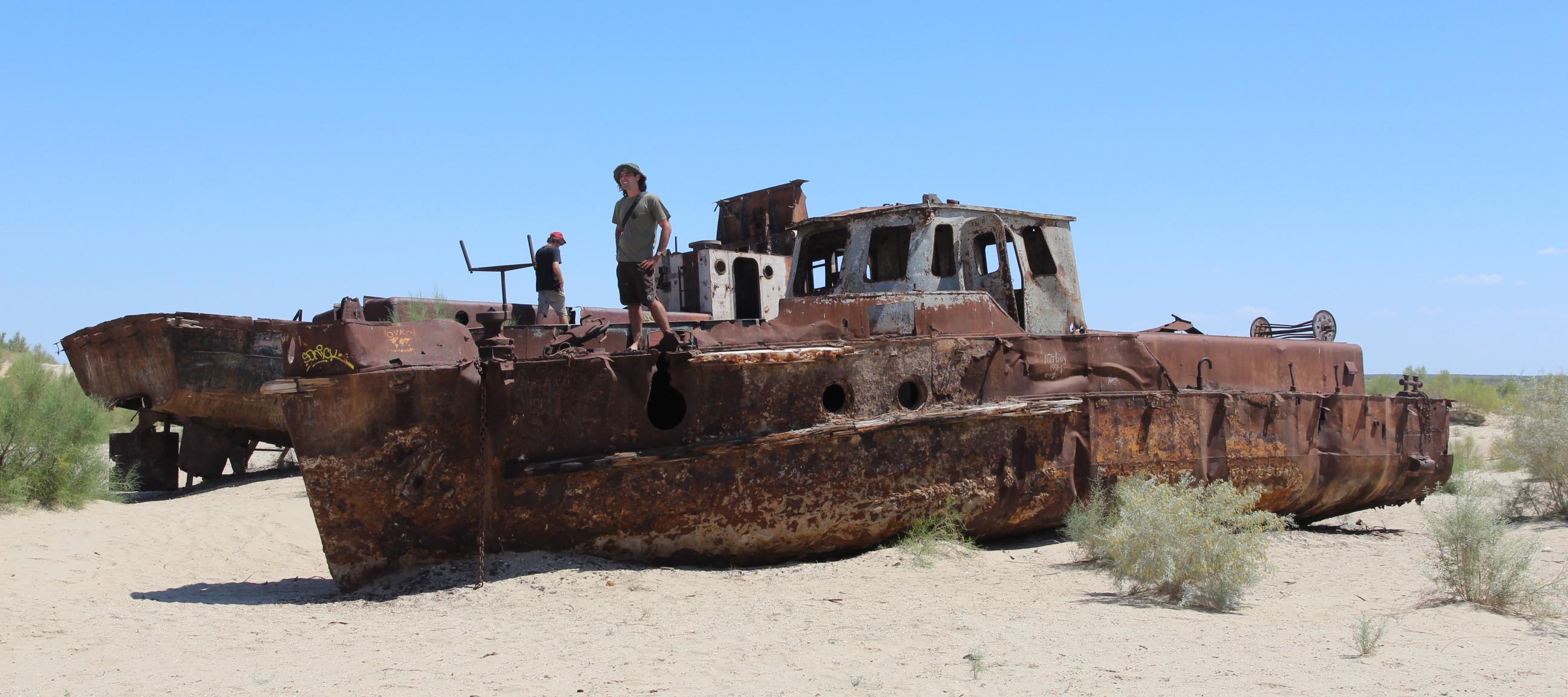 Ships Of The Dessert  Ghost ships in the desert—the heartbreak of the Aral Sea