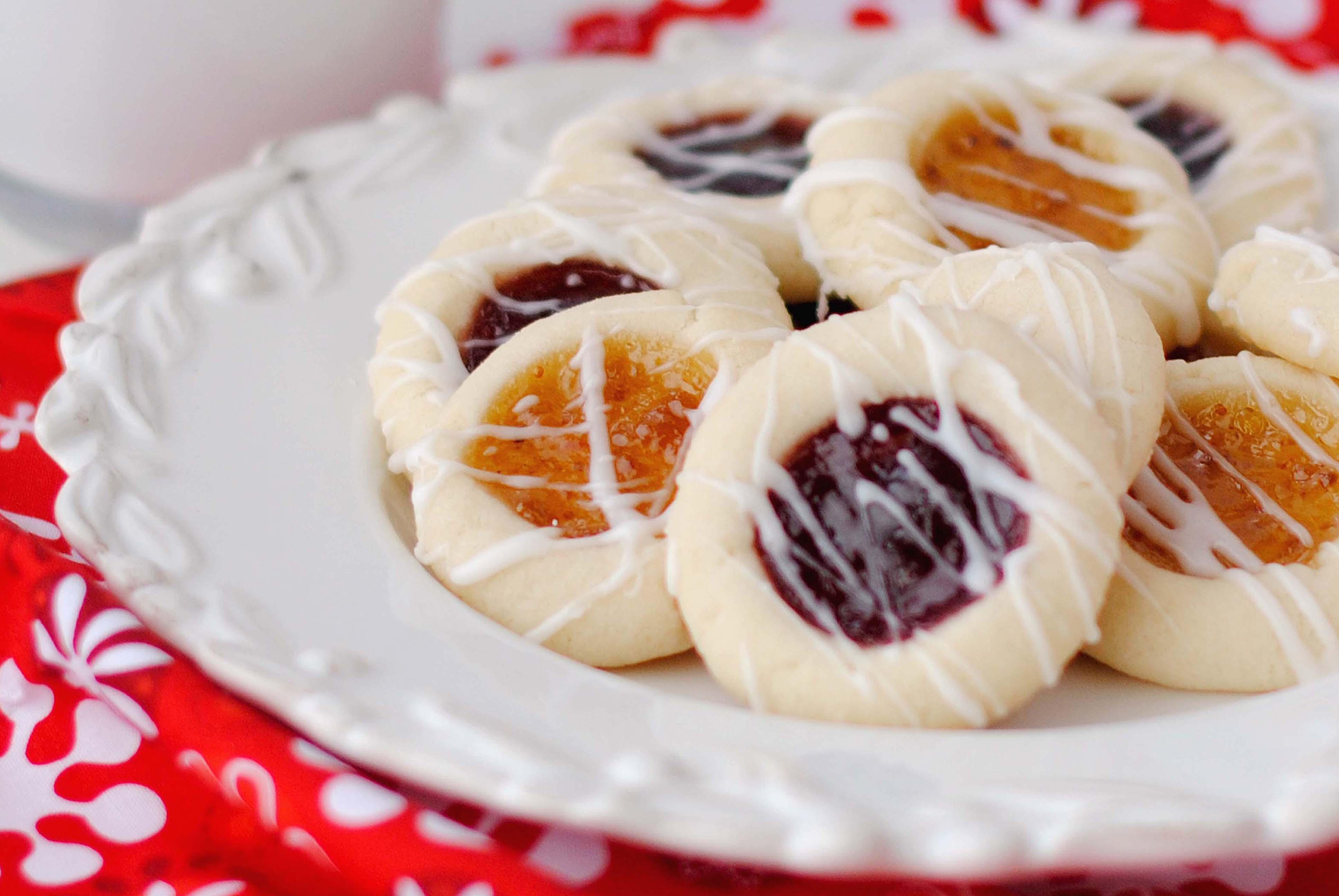 Shortbread Thumbprint Cookies  Almond Shortbread Thumbprint Cookies with Raspberry Jam
