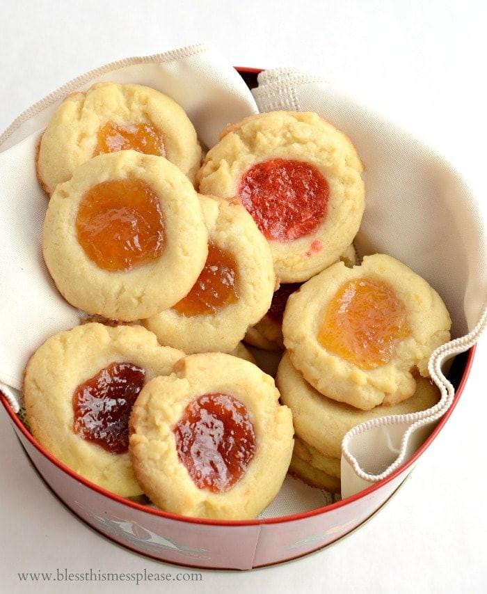 Shortbread Thumbprint Cookies  shortbread cookies with jam
