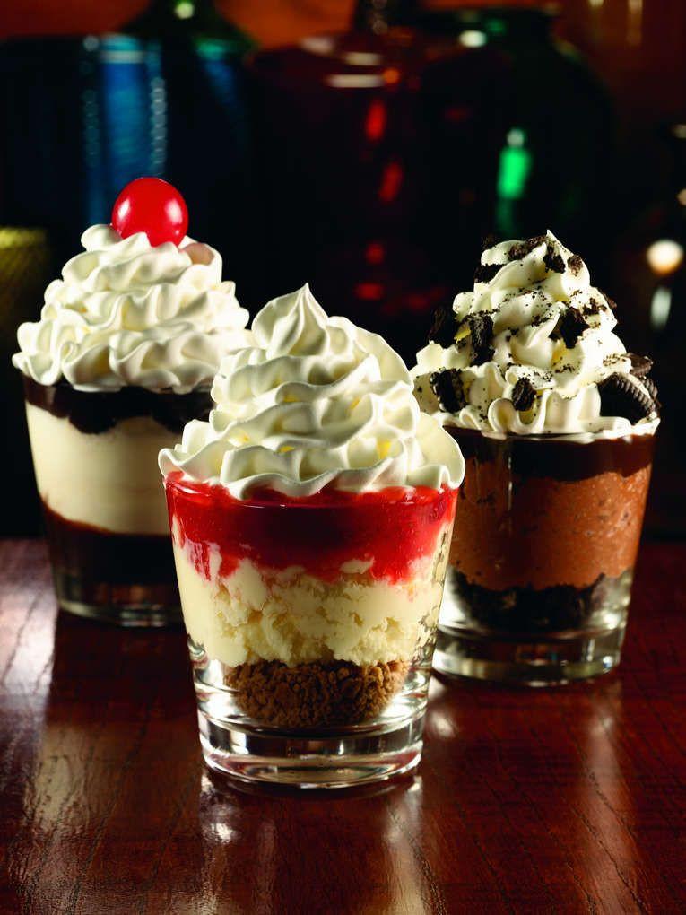 Shot Glasses Desserts Recipes  Applebees Dessert Shooters Mini Desserts Served In Shot