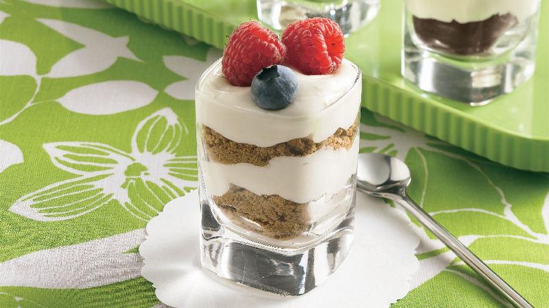 Shot Glasses Desserts Recipes  Cheesecake Shot Glass Desserts Recipe BettyCrocker