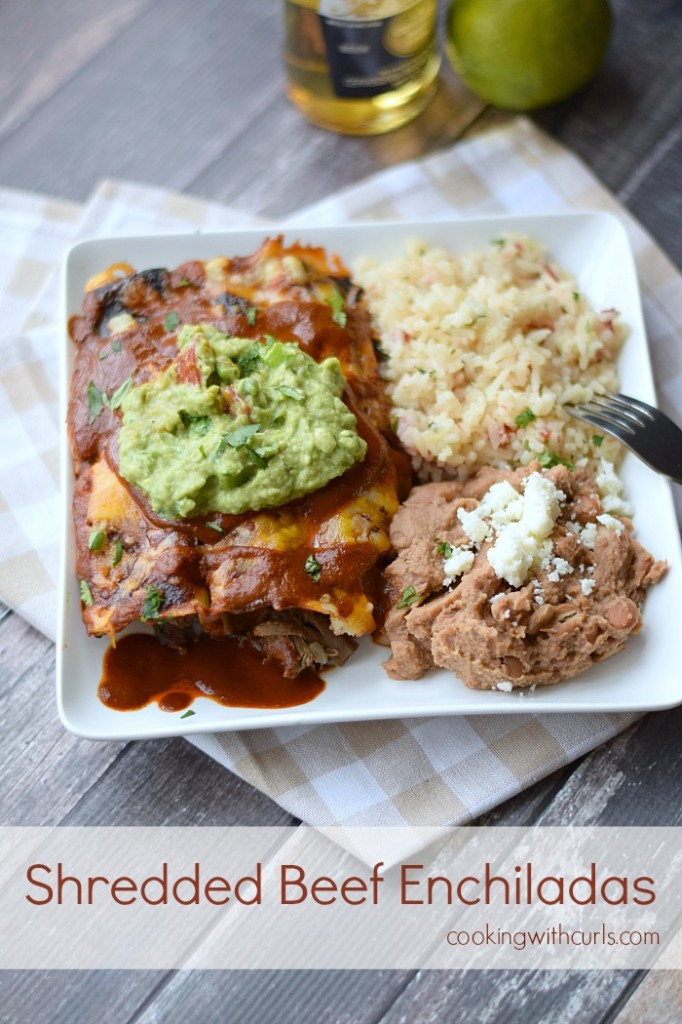 Shredded Beef Enchiladas  Shredded Beef Enchiladas Cooking With Curls