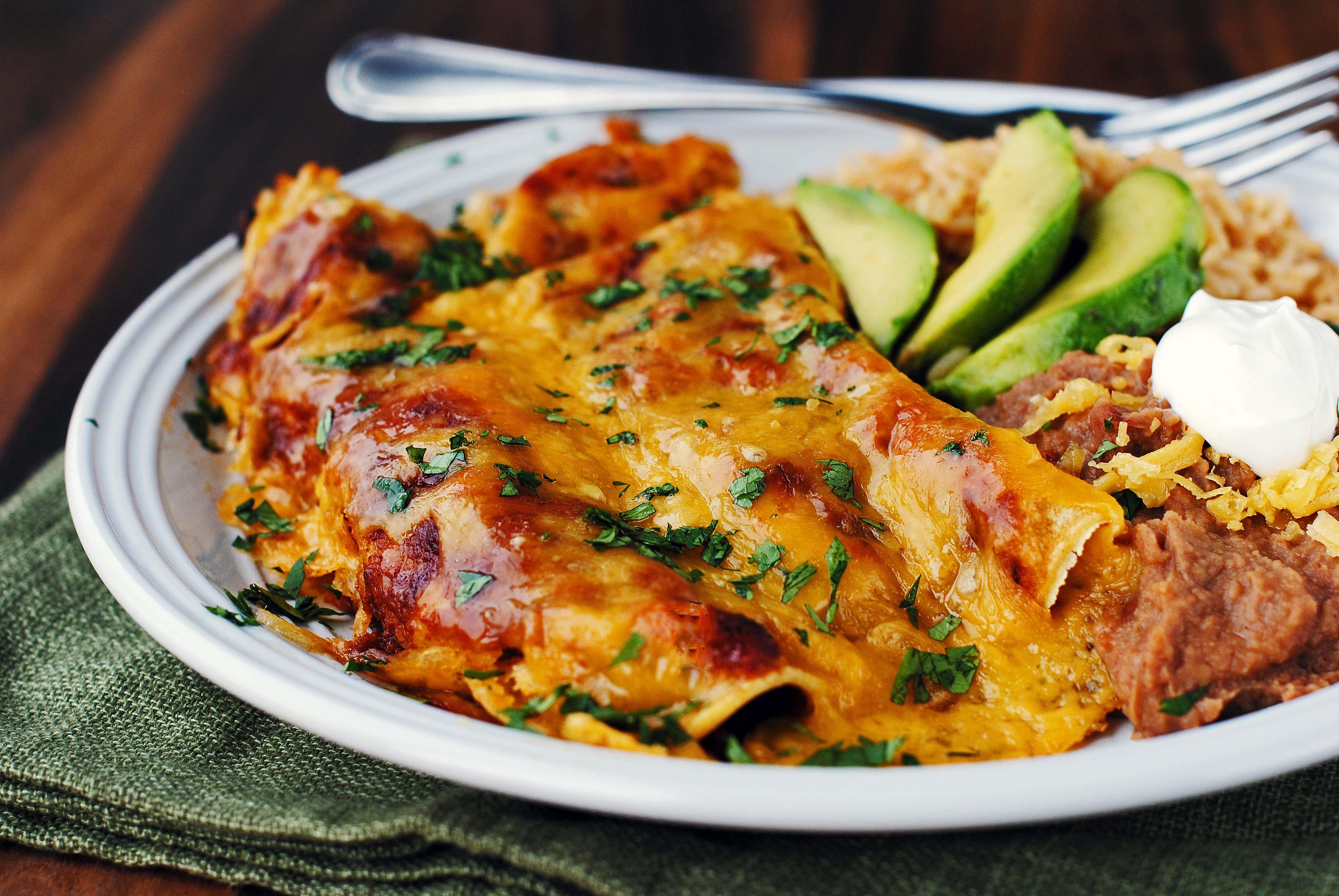Shredded Beef Enchiladas  Ugly Enchiladas with the BEST Homemade Red Enchilada Sauce