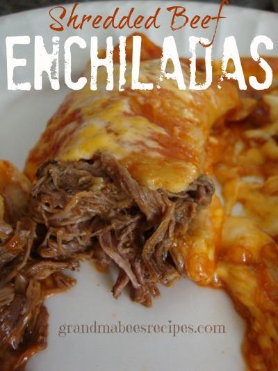Shredded Beef Enchiladas  Easy Shredded Beef Enchiladas