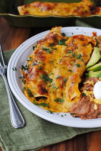 Shredded Beef Enchiladas  Top 10 Enchilada Recipes Rainbow Delicious