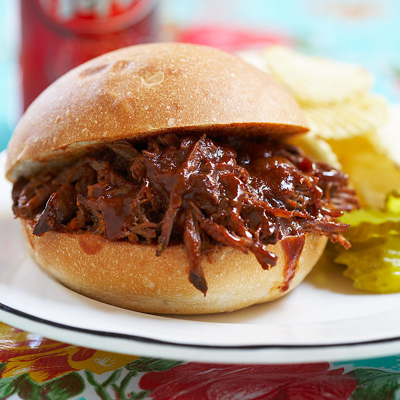 Shredded Beef Sandwiches  Slow Cooker BBQ Shredded Beef Sandwiches