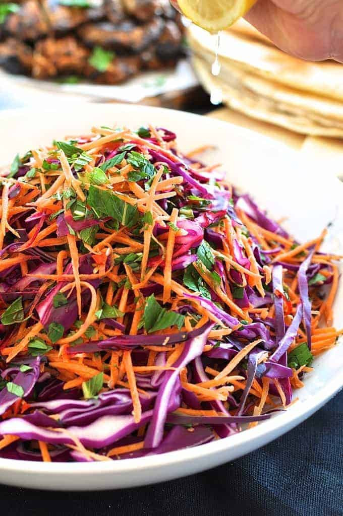 Shredded Carrot Salad  Shredded Red Cabbage Carrot and Mint Salad