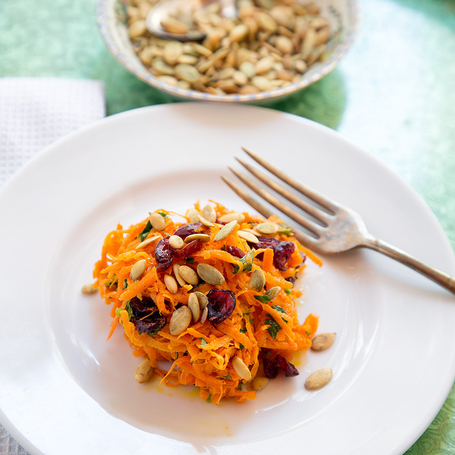 "Shredded Carrot Salad  ""What's Up Doc "" Shredded Carrot Salad with Lime Jalapeno"