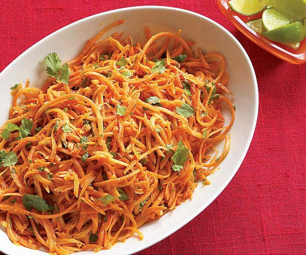 Shredded Carrot Salad  Shredded Carrots with Jalapeño Lime & Cilantro Recipe