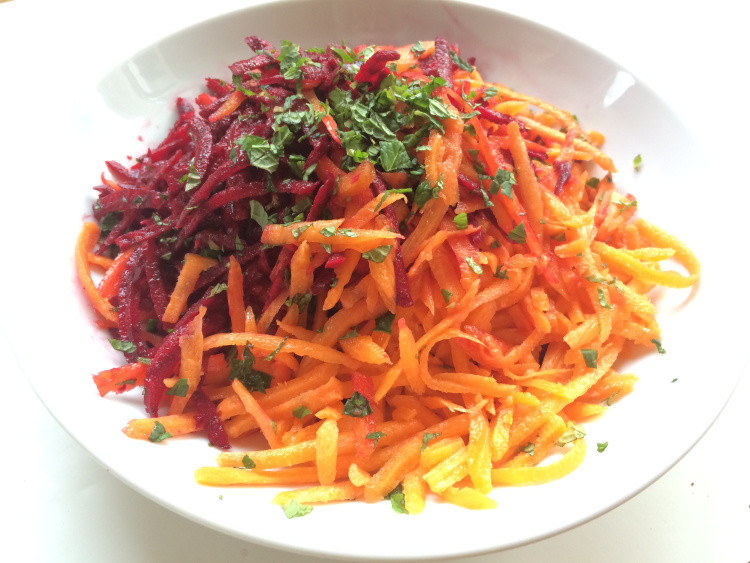 Shredded Carrot Salad  Shredded Carrot and Beet Salad At My Kitchen Table
