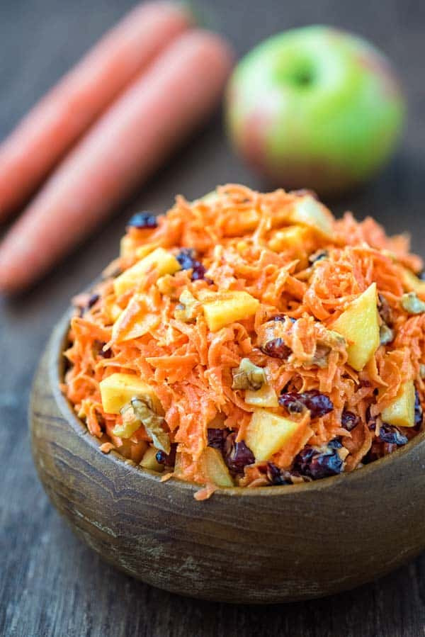 Shredded Carrot Salad  Shredded Carrot Salad with Cranberries COOKTORIA