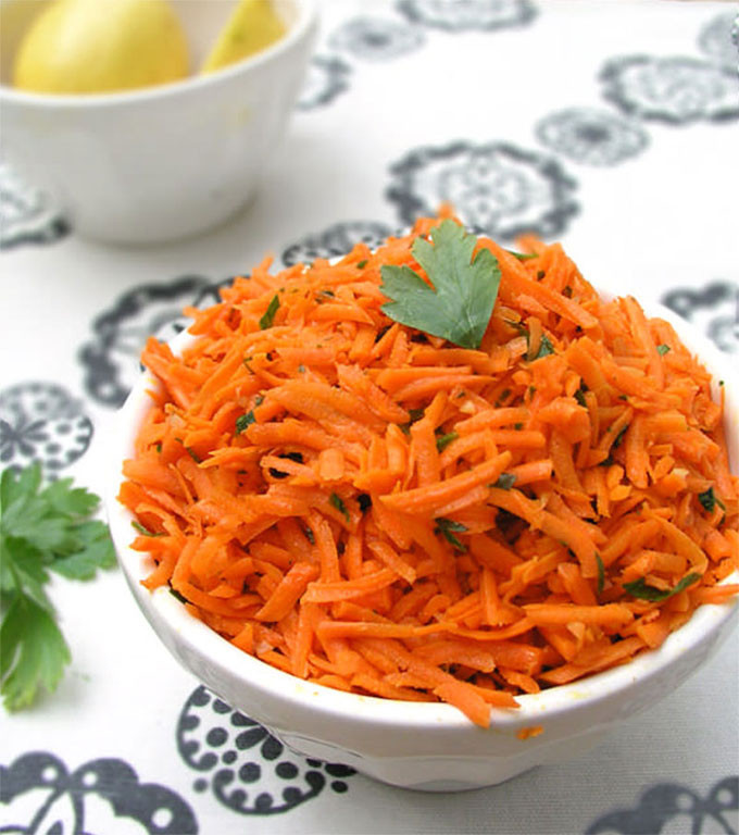 Shredded Carrot Salad  Moroccan Raw Carrot Salad A great side dish in 15 minutes