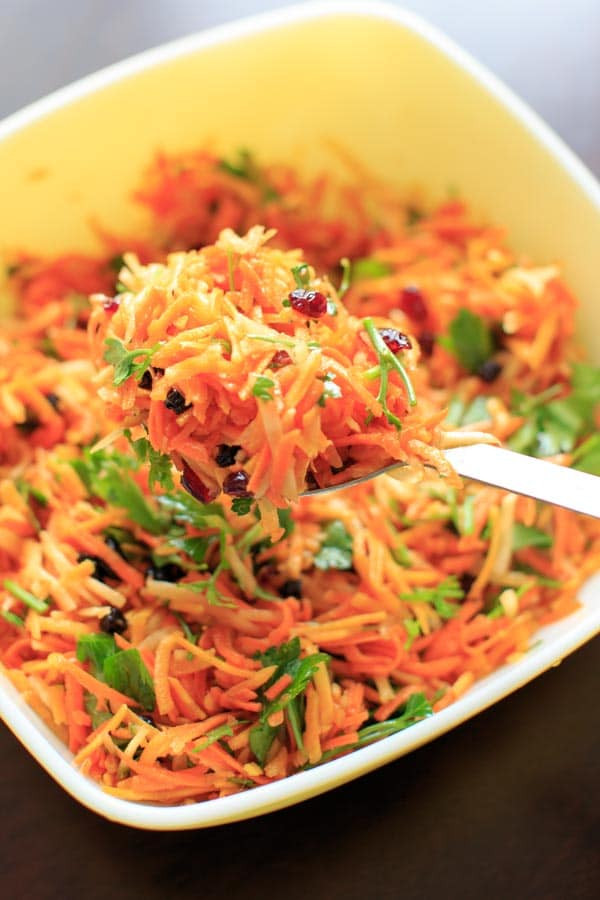 Shredded Carrot Salad  Multicolored Shredded Carrot Salad vegan and gluten free