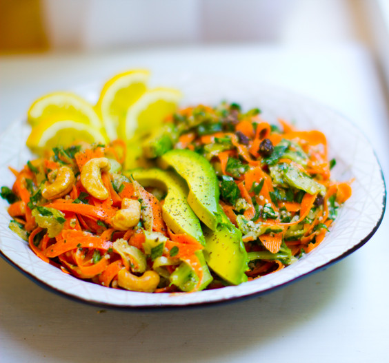 Shredded Carrot Salad  Shredded Carrot Salad Duo His & Hers