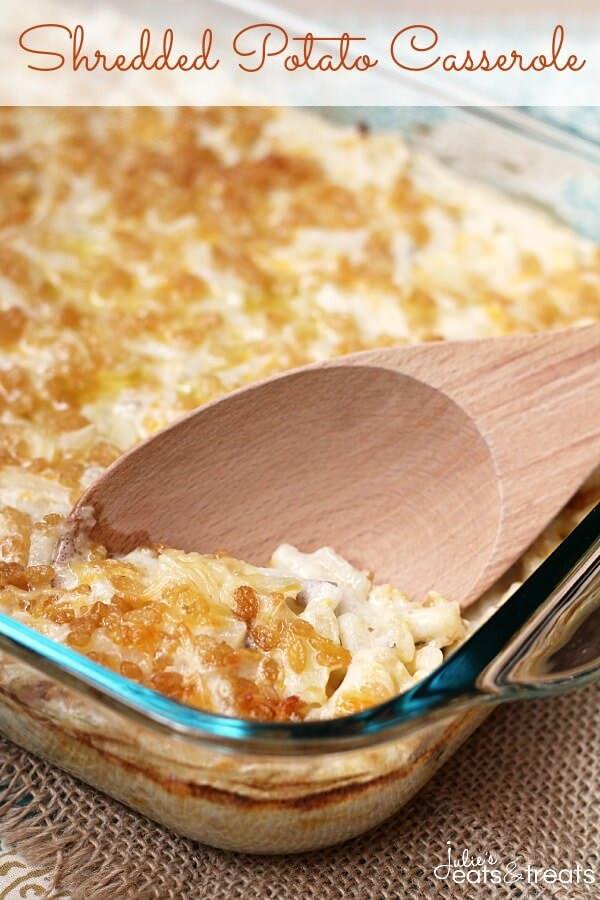 Shredded Potato Casserole  Shredded Potato Casserole Julie s Eats & Treats