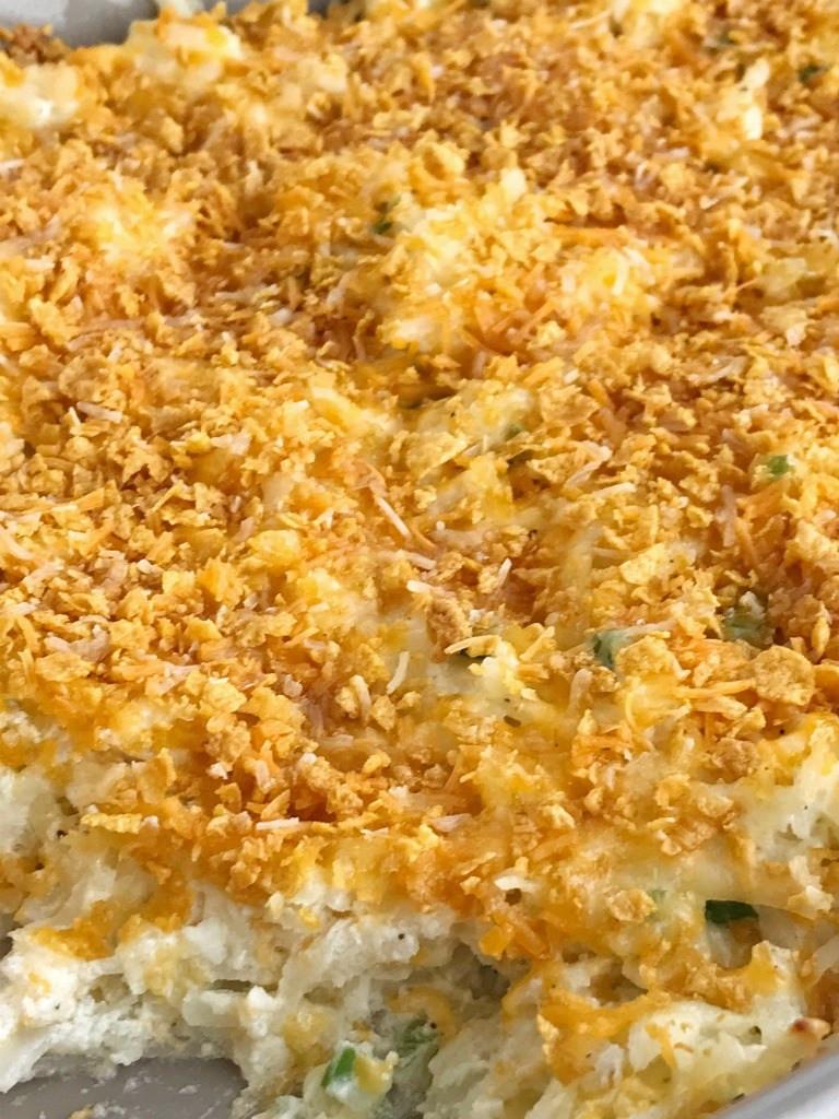 Shredded Potato Casserole  Cheesy Shredded Potato Casserole To her as Family