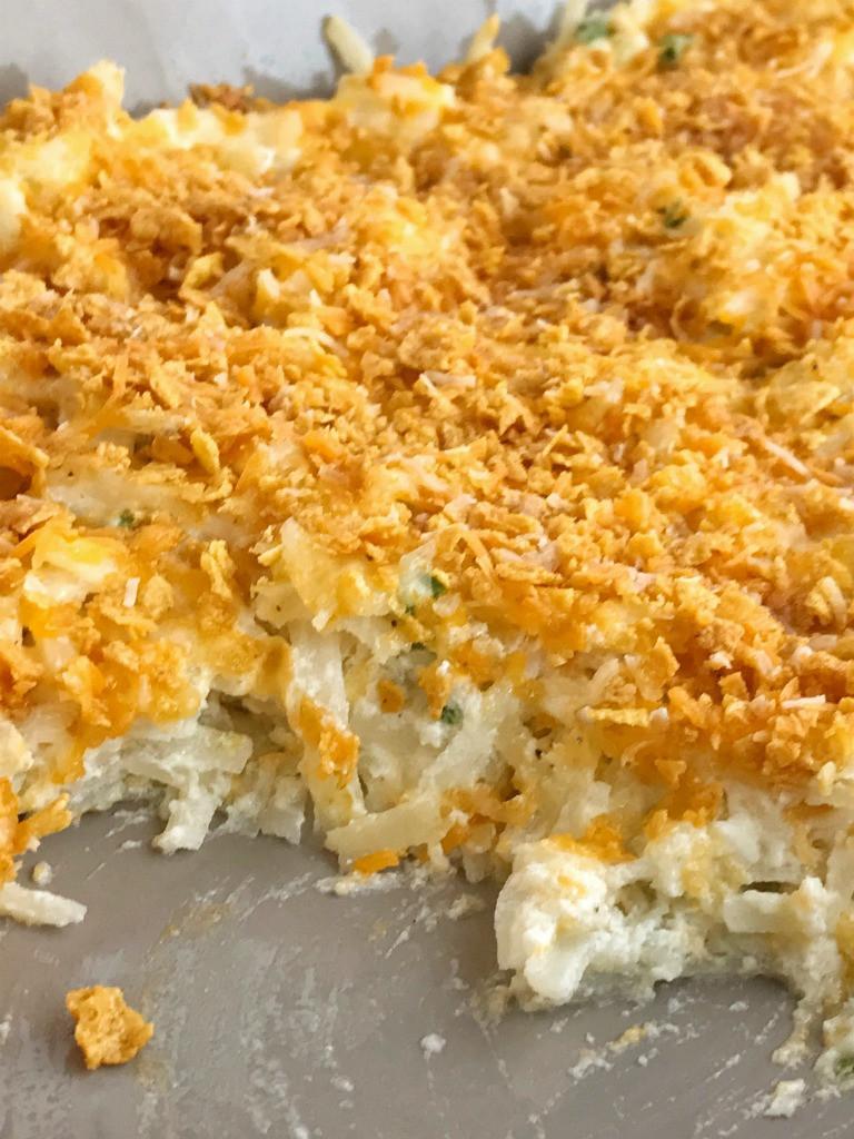 Shredded Potato Recipes  Cheesy Shredded Potato Casserole To her as Family