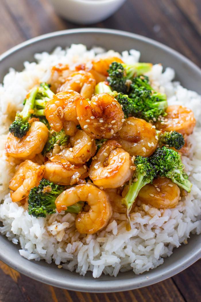 Shrimp And Broccoli  Easy Honey Garlic Shrimp and Broccoli