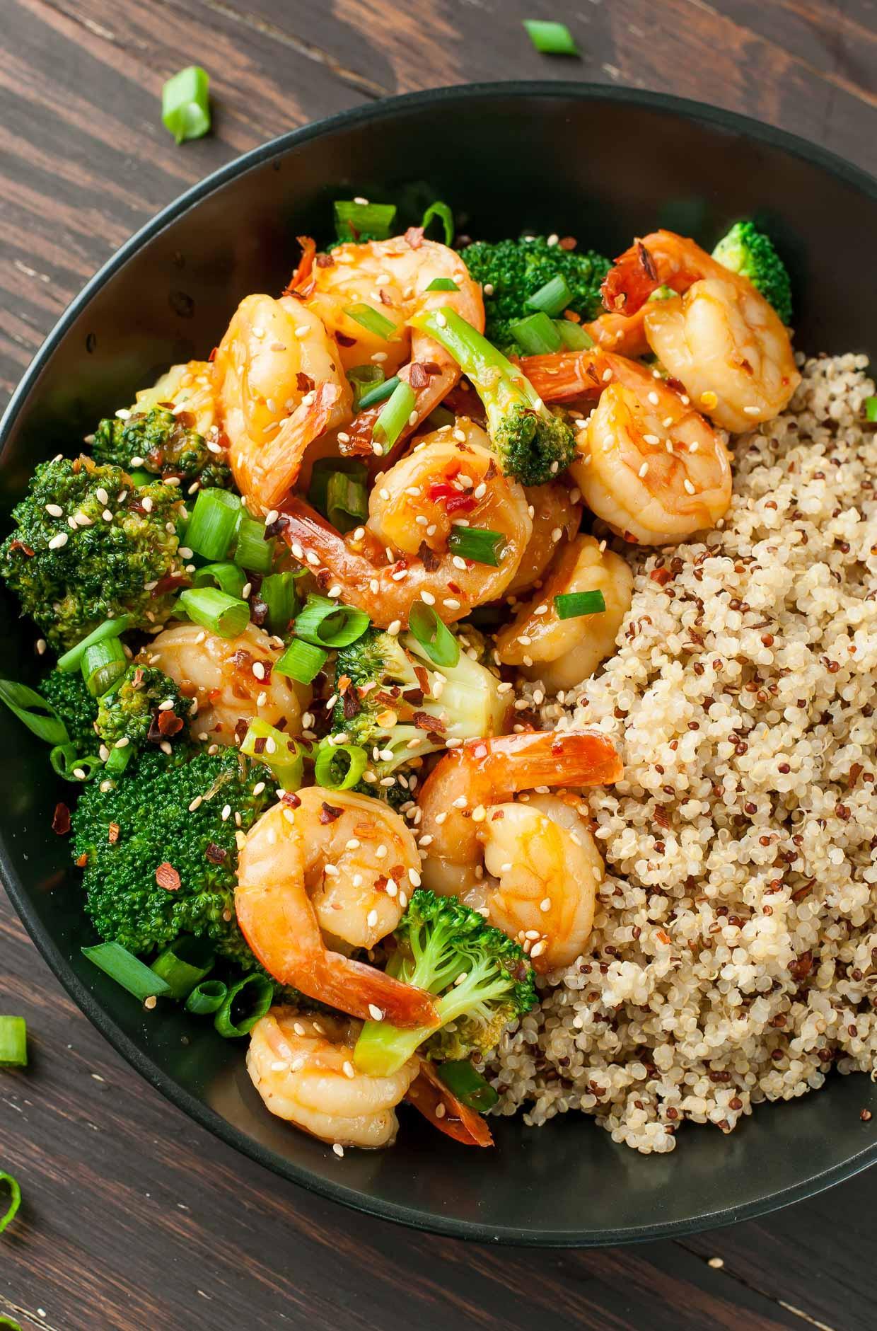 Shrimp And Broccoli  Szechuan Shrimp and Broccoli Peas And Crayons