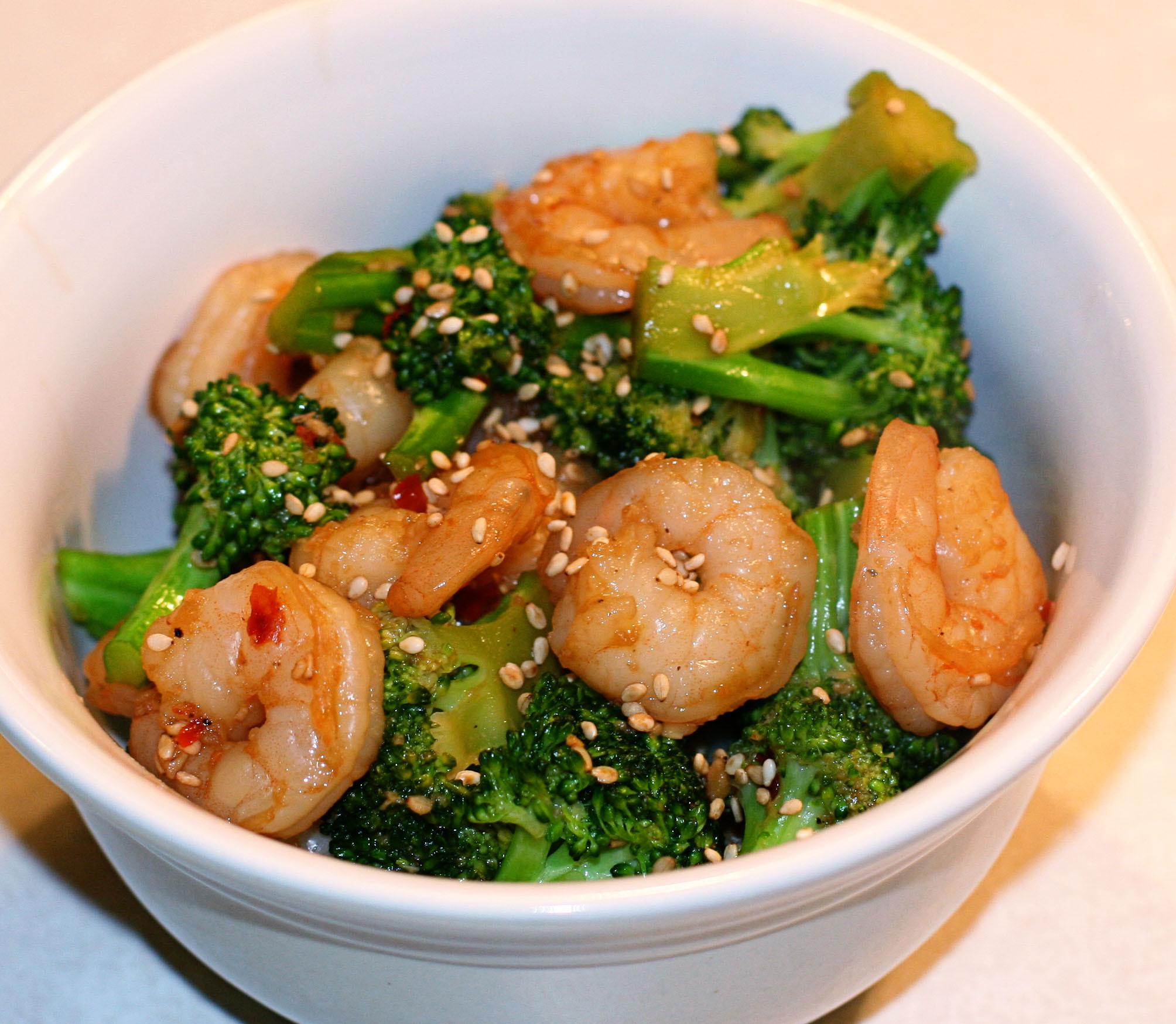 Shrimp And Broccoli  Sesame Shrimp and Broccoli