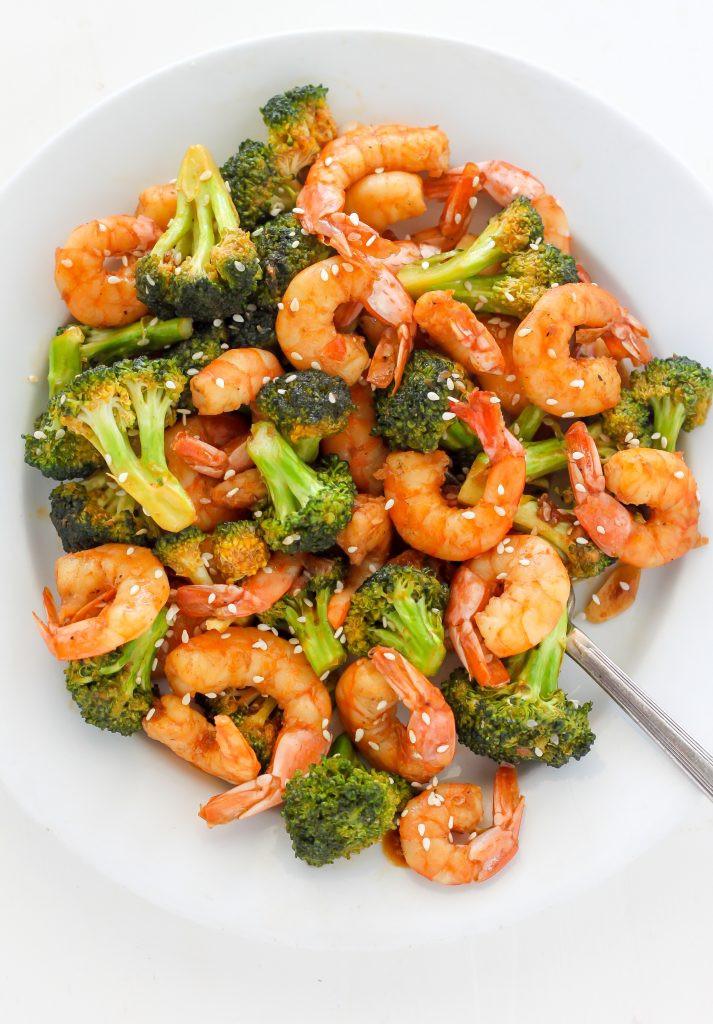 Shrimp And Broccoli  20 Minute Skinny Sriracha Shrimp and Broccoli Baker by