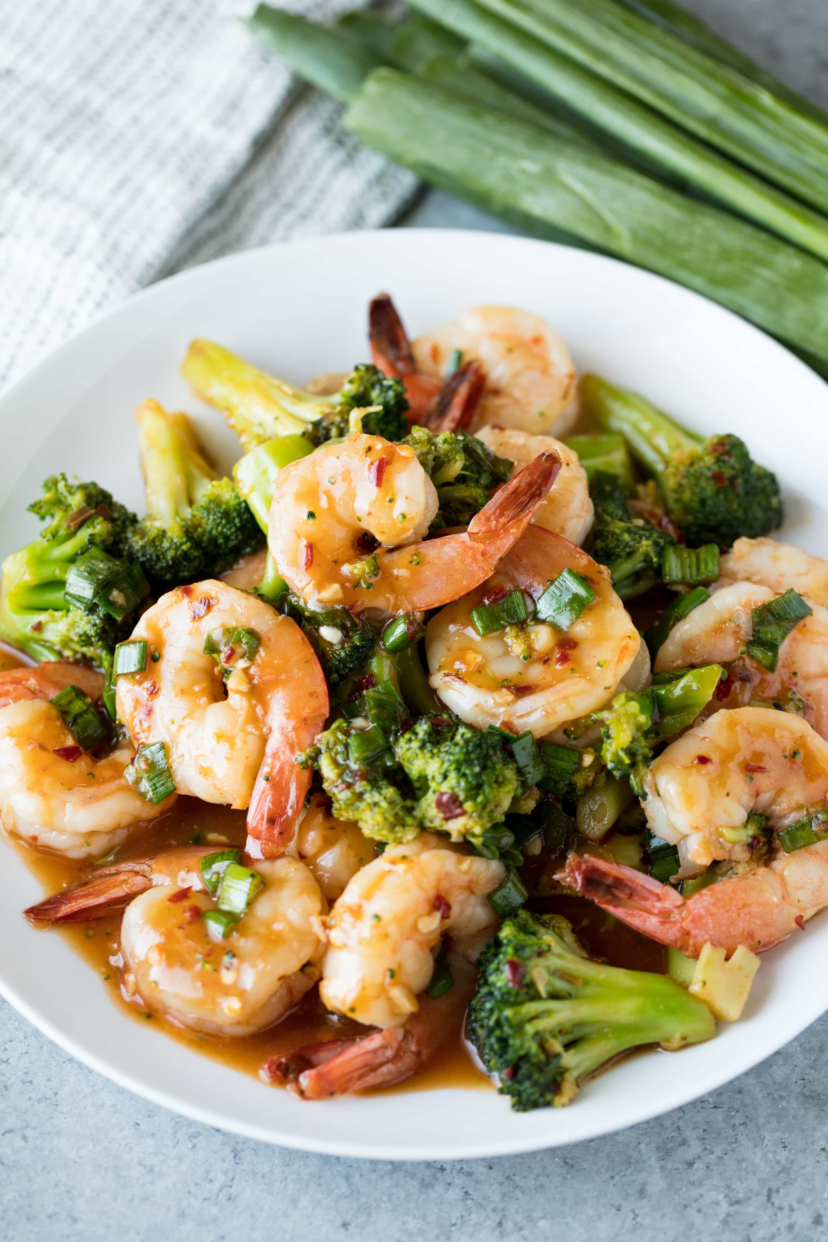 Shrimp And Broccoli  Spicy Szechuan Shrimp and Broccoli