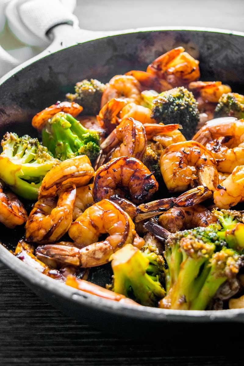Shrimp And Broccoli  Honey Garlic Shrimp and Broccoli Homemade Hooplah