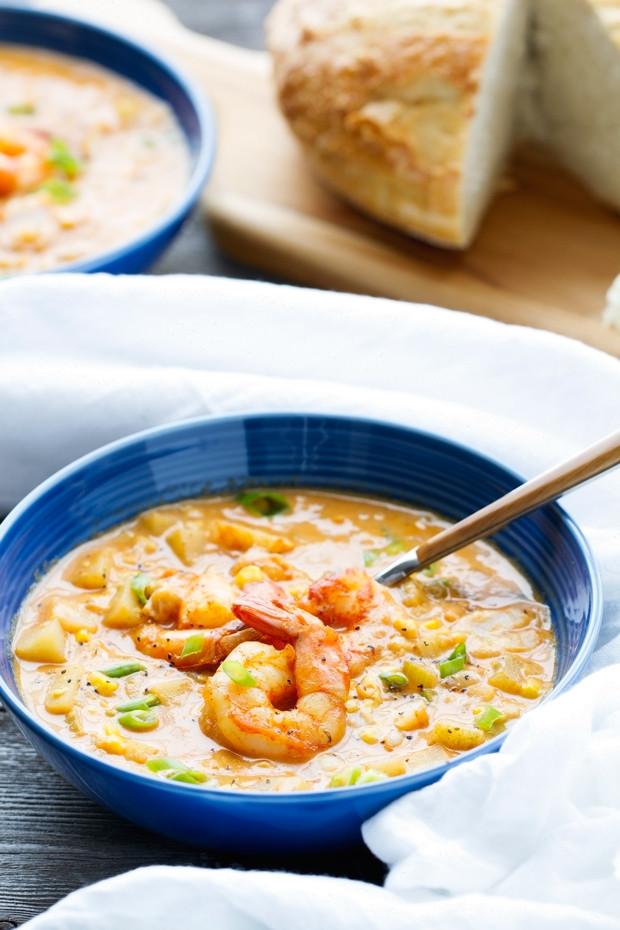 Shrimp And Corn Soup  Shrimp and Corn Chowder Recipe